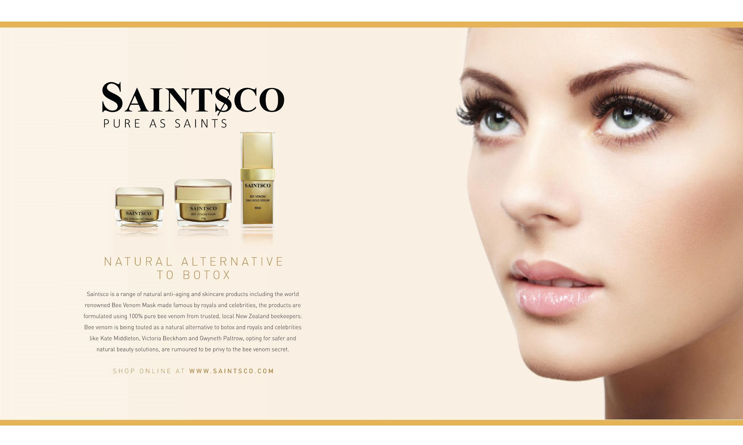 Saintsco Products Ad on The Beauty Book 2015